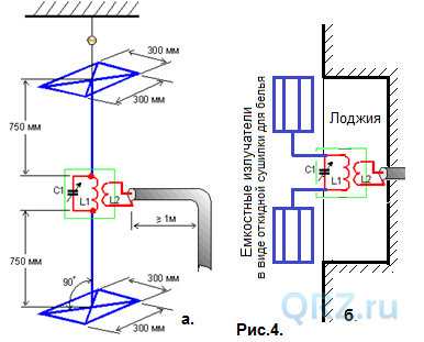 SSB супер-антенна КВ ++, балконно-комнатный вариант с ...