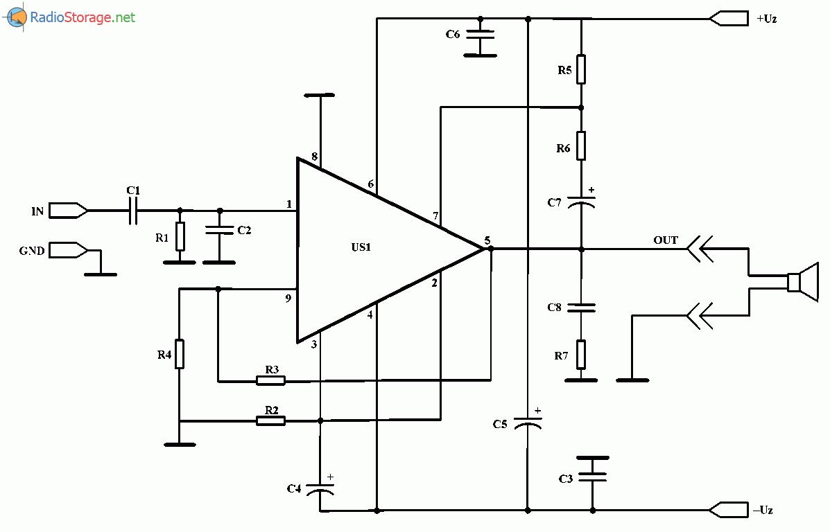 Мощный усилитель на микросхеме TDA1514A (2x50 Вт), схема