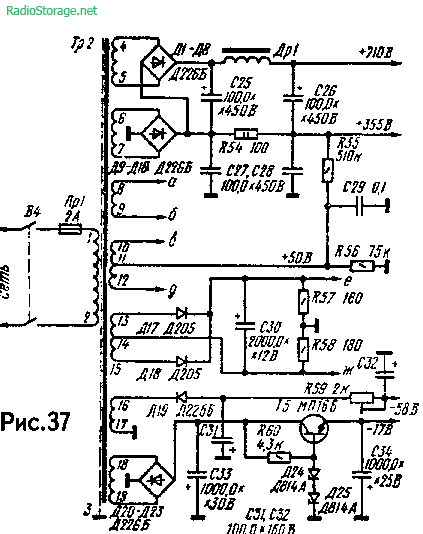 Мощный двухканальный УМЗЧ А. Баева на 6Ж1П, 6Н2П, 6Н1П, ГУ-50 (65Вт)