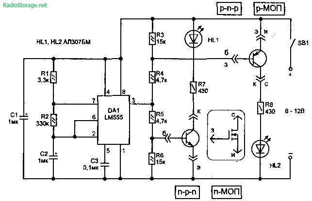 Тестер для проверки транзисторов