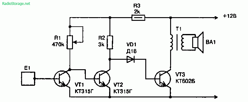Схемы простых сенсорных устройств на транзисторах