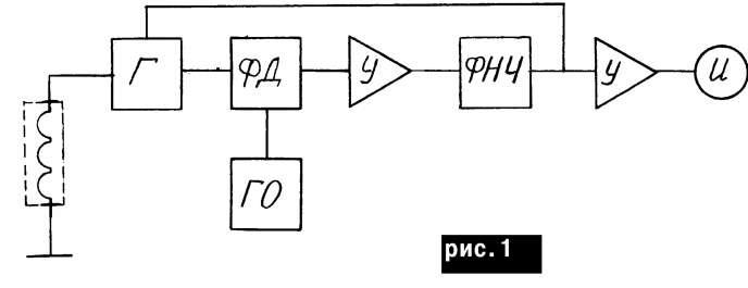 Структурная схема металлоискателя с детектором на основе ФАПЧ