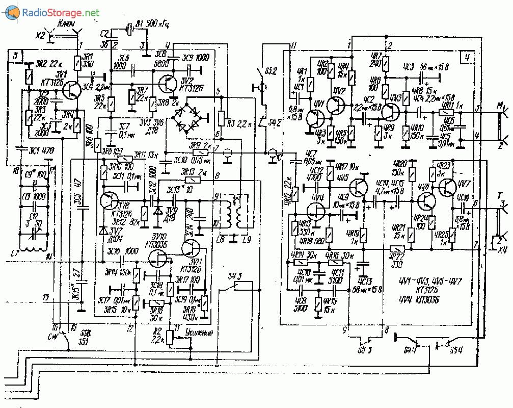 Транзисторно-ламповый трансивер на 28 МГц (10м)