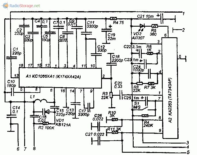 Схема стереофонического FM-тюнера