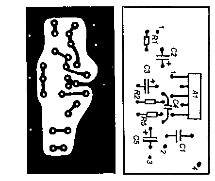 Усилитель мощности на микросхеме К174УН14 печатная плата