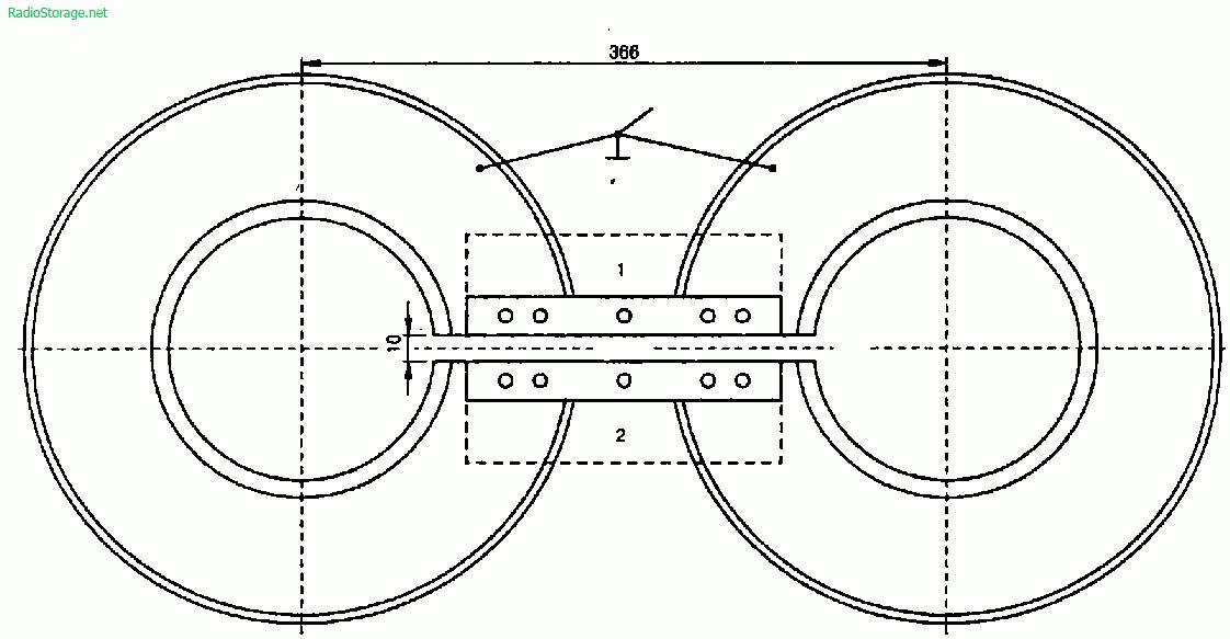 Телевизионная антенна из диска накопителя от больших ЭВМ типа ЕС