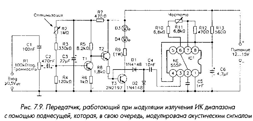 Схема ИК-передатчика