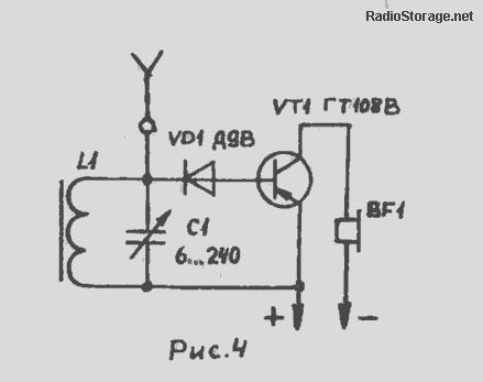 Радио на одном транзисторе с питанием от земляной батареи