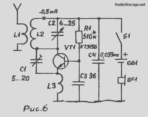 Сверхрегенеративный УКВ радиоприемник на одном транзисторе