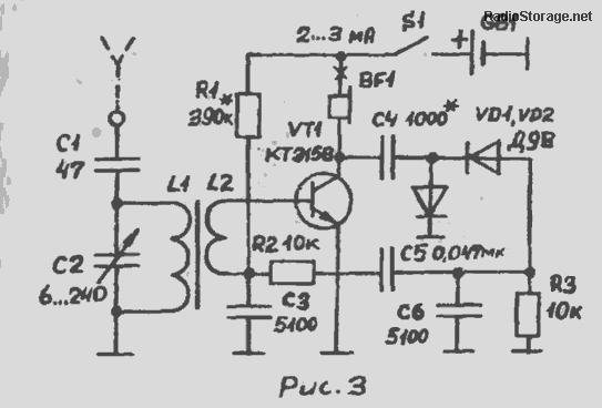 Самодельный приемник на одном транзисторе с магнитной антенной