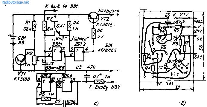 Таймер-индикатор разрядки батареи