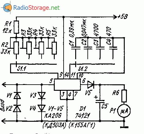 Простои частотомер на микросхеме К155АГ1