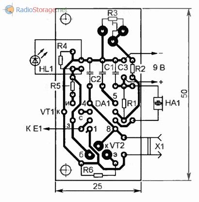 Печатная плата измерителя емкости аккумуляторов