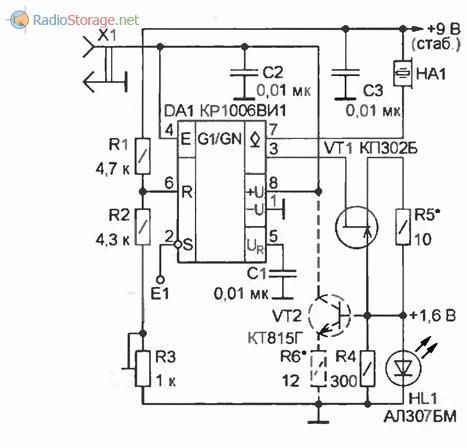 Принципиальная схема измерителя емкости аккумуляторов