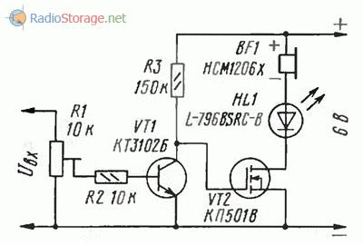 Схема генератора с управлением входным напряжением