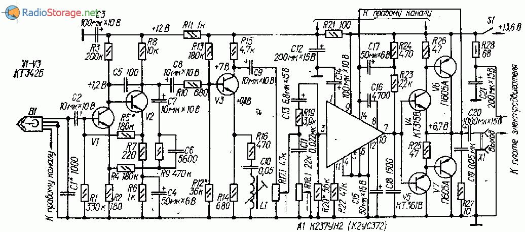 Кассетный проигрыватель на транзисторах и микросхемах К237УН2