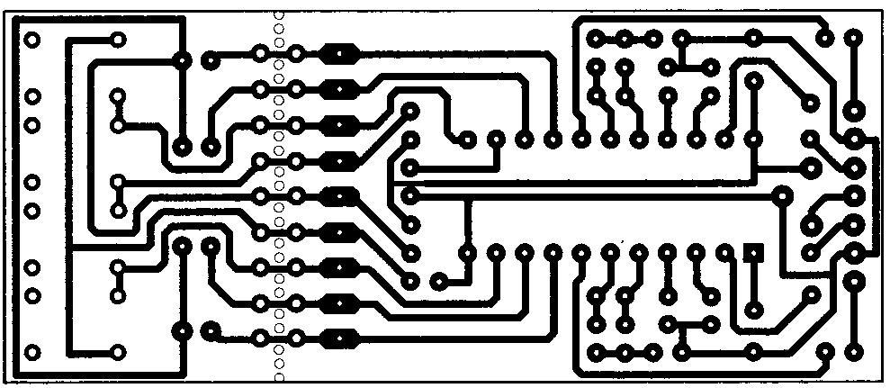 Изображение печатной платы для регулятора громкости, баланса и тембра на микросхеме КР174ХА54