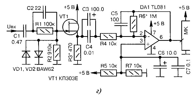 Усилители на транзисторах и микросхемах (для МК)