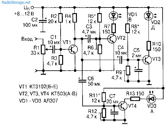 Частотный анализатор сигналов звуковой частоты