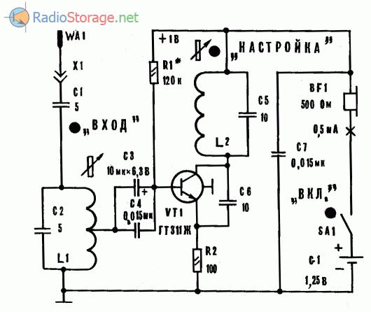 Принципиальная схема УКВ ЧМ радиоприемника