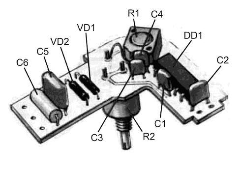 детали на плате металлоискателя