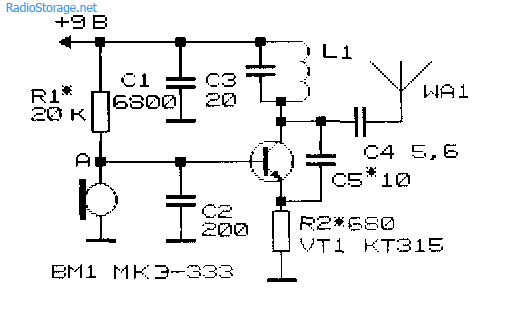 Схемы простейших радиопередающих устройств