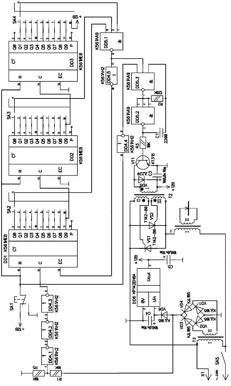 Принципиальная схема самодельного точечного сварочного аппарата