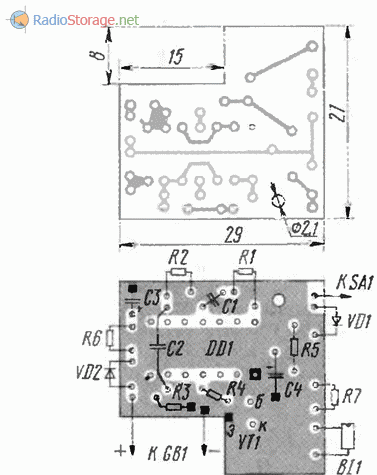 Печатная плата передатчика для охранной лазерной сигнализации