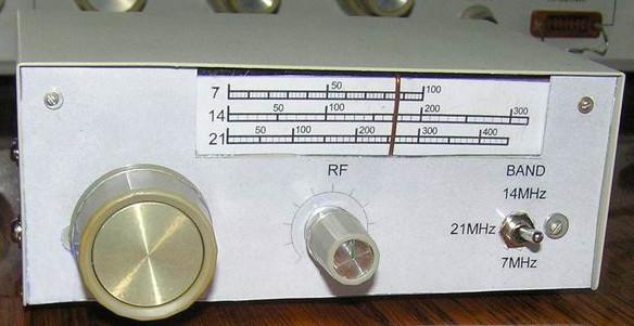 Внешний вид приемника на транзисторах (КВ диапазоны 7, 14, 21 МГц)