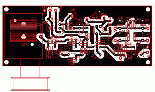 Простой трехдиапазонный КВ приемник на транзисторах печатная плата