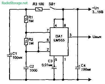 Генераторы прерывистого тонального сигнала (LM555)