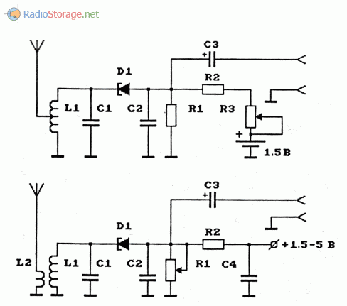 Схемы ЧМ-передатчиков на тунельных диодах