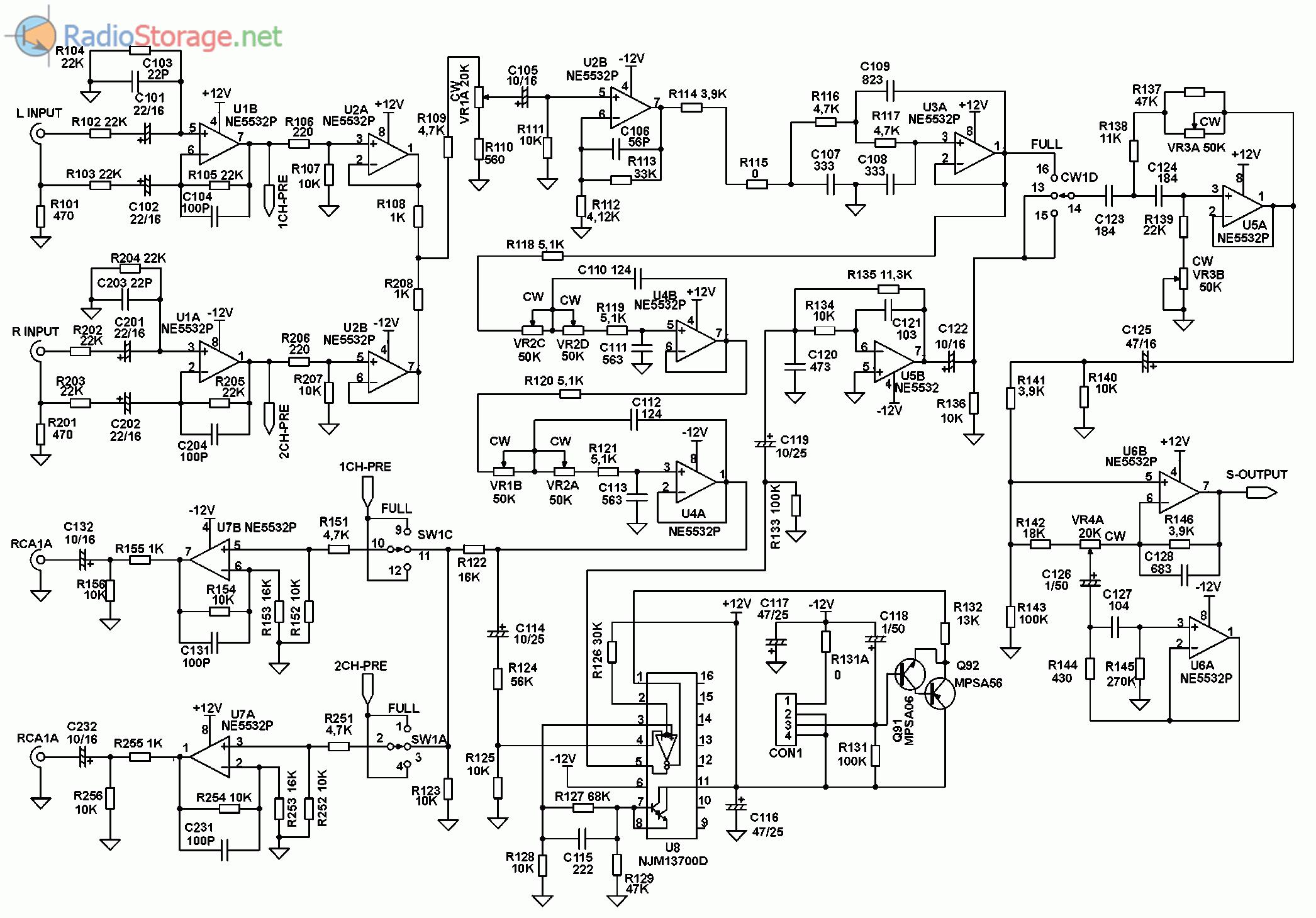 Принципиальная схема автомобильного усилителя SUPRA SGD-A1800 (часть 3)