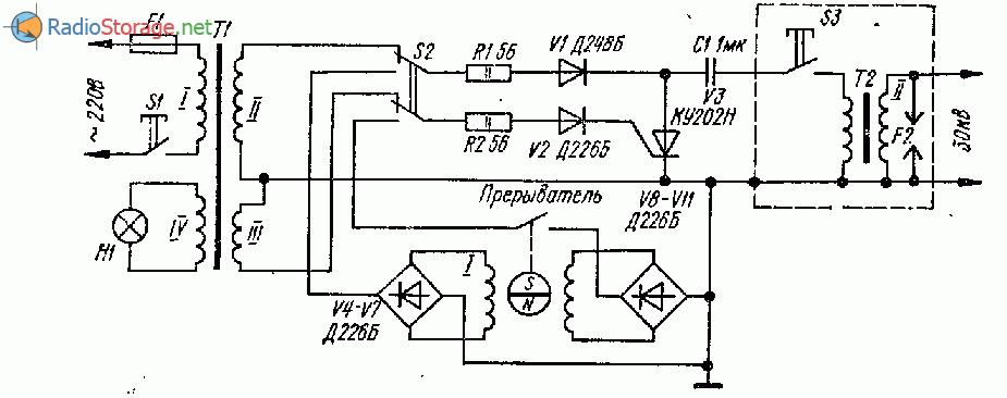 Схема искрового дефектоскопа для проверки изоляционного покрытия труб
