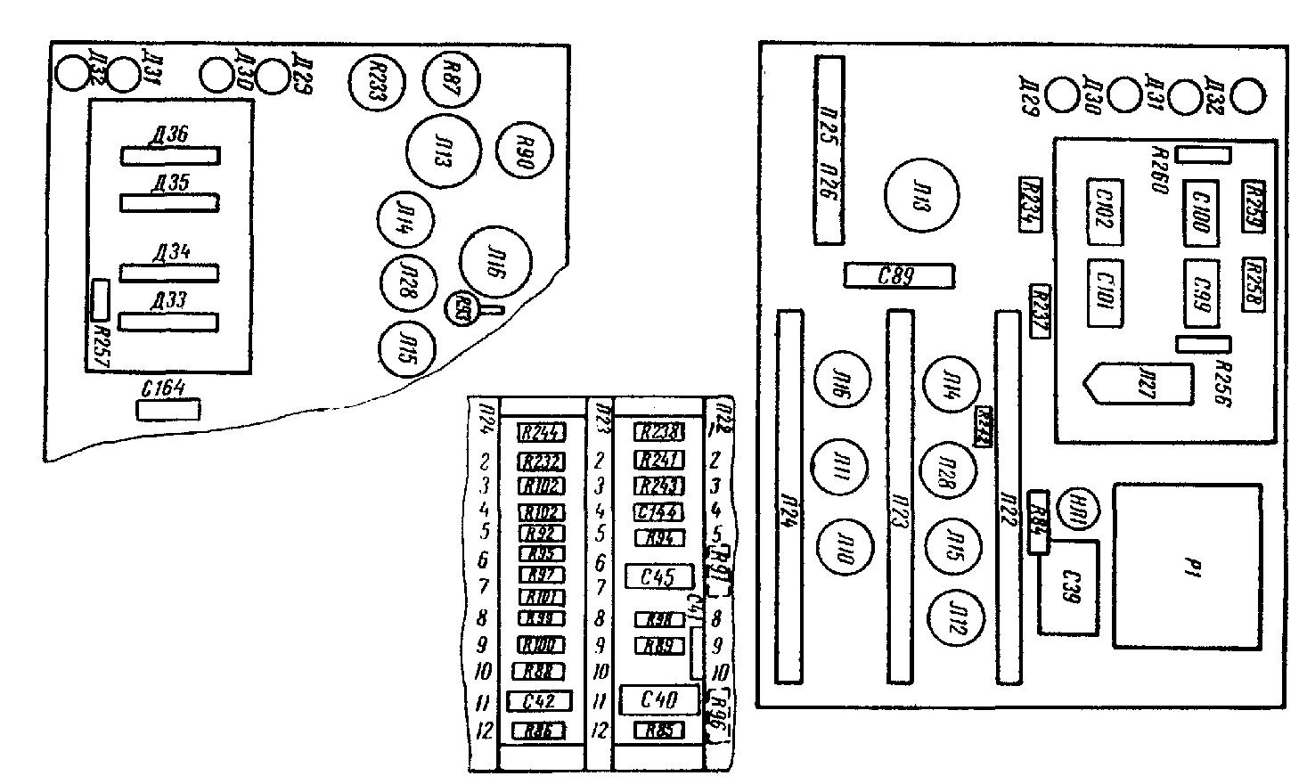 Осциллограф С1-18, схема