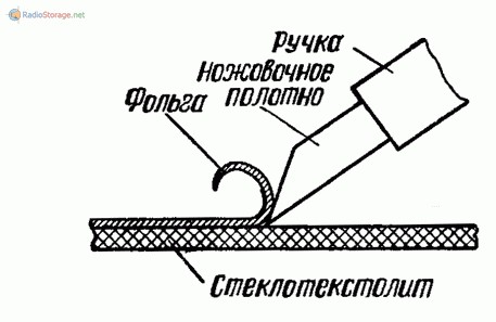 резак для изготовления печатной платы