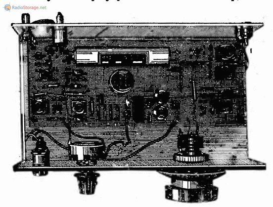 расположение деталей на шасси КВ приемника