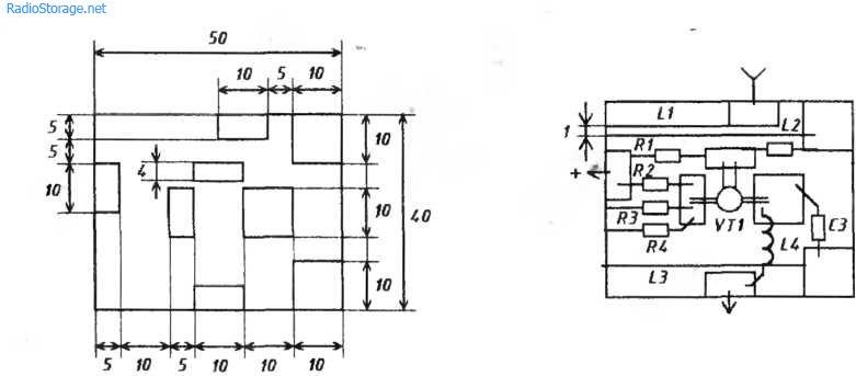 Схема конвертера ДМВ (КТ328)