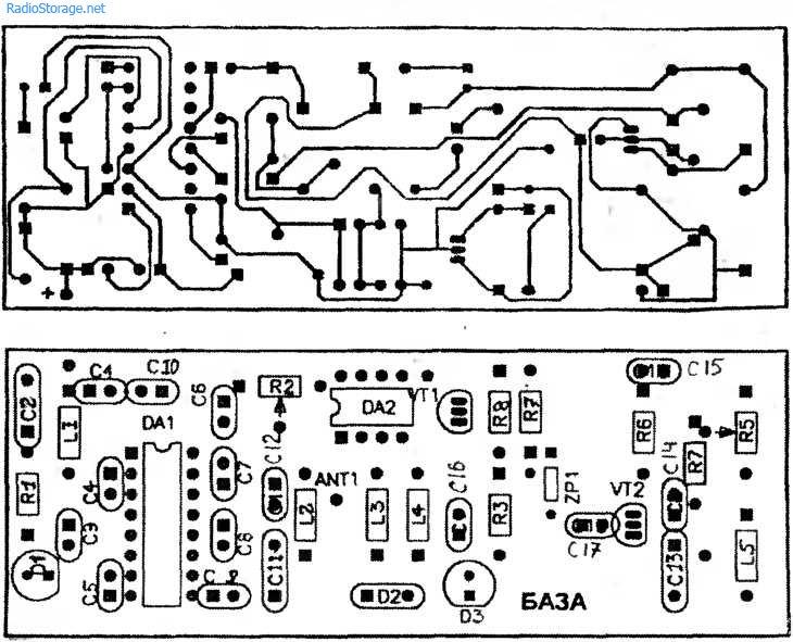 Схема простого радиотелефона на 65-108мГц