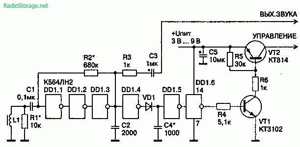 Бесконтактный съем информации с телефонной линии (индуктивный метод)
