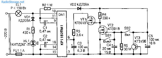 Сетевое реле времени (КР1182ПМ1)