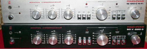 Усилитель Романтика 15У-120 (50У-220) стерео, схема