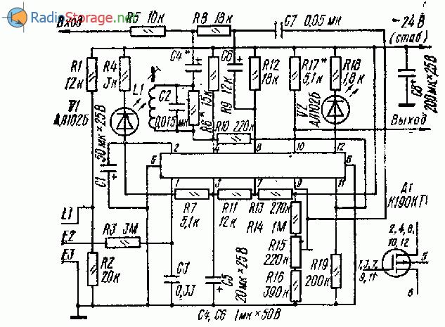 Электронный регулятор громкости на микросхеме К190КТ1