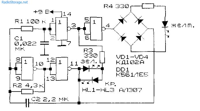 Схема светофора