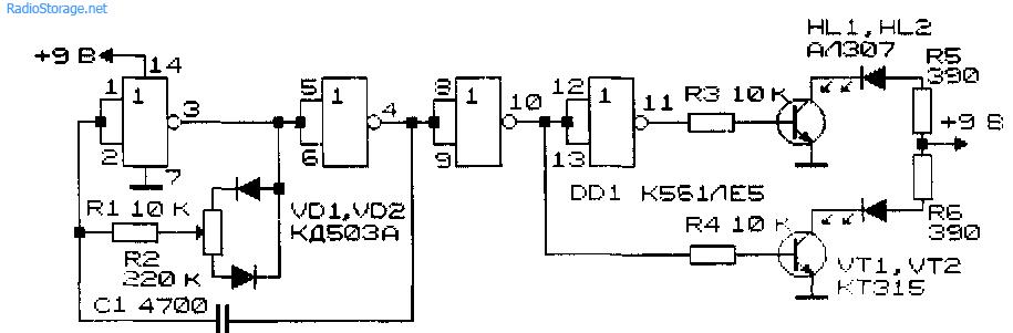 Схема цветорегулятора