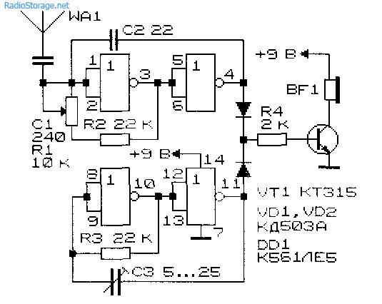 Схема простого самодельного терменвокса