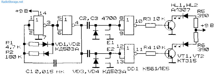 Схема сенсорного пульта управления