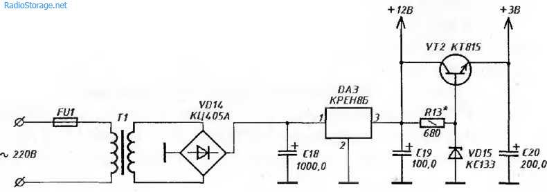УКВ-приемник с фиксированными настройками(174ХА34, К04КП020)