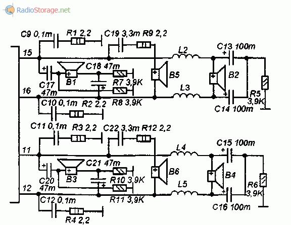 Схема включения динамиков для автомобильной АС