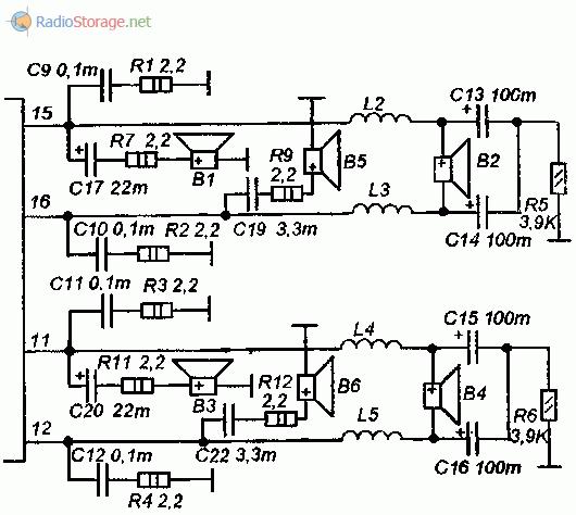 Схема фильтров для автомобильной АС